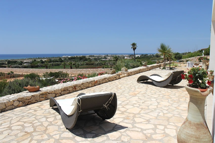 Apulia Puglia holidays - Holiday Luxury Villa-house for rent in Pescoluse - villa sea